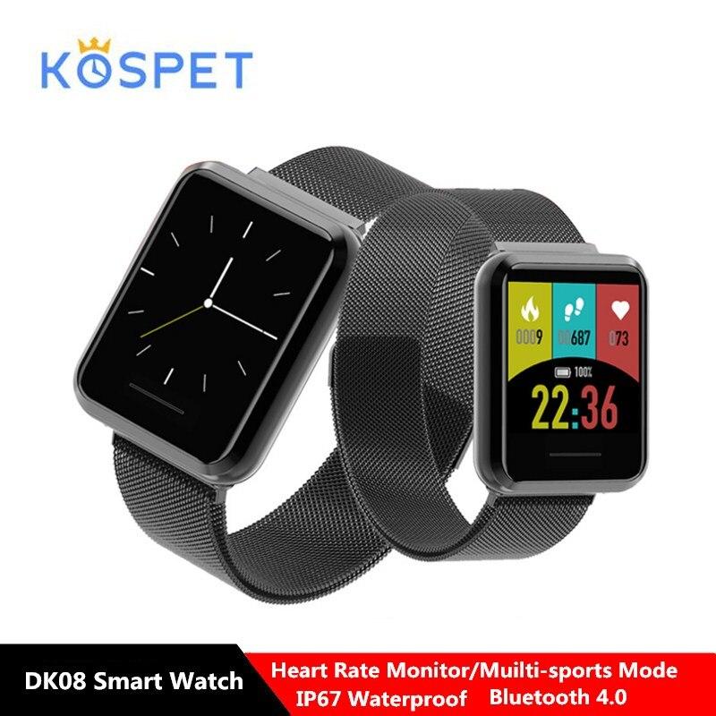 Kospet DK08 montre intelligente 1.28 ''écran tactile podomètre surveillance de la fréquence cardiaque IP67 étanche BT sport Smartwatch pour Android iOS