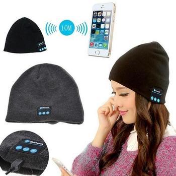 50pcs/lot Beanie Hat Cap Wireless Bluetooth Earphone Smart headphone Speaker Mic Winter Sport Stereo Music hat
