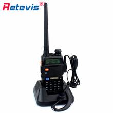 Handy Retevis RT-5R Two Way Radio Long Range Walkie Talkie 5W VHF UHF Portable Ham Radio Communicator Walkie-Talkie Transceiver