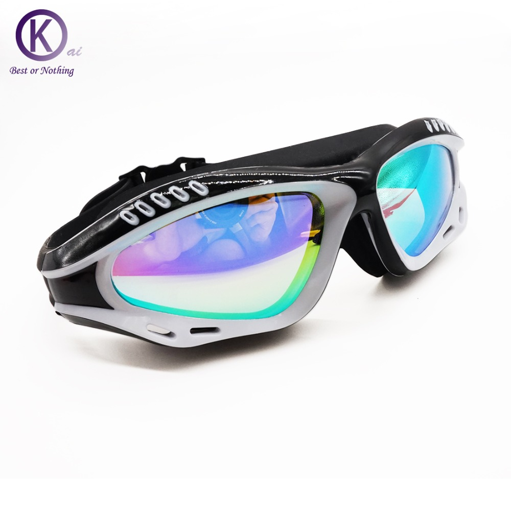 High end Swimming Goggles HD Swimming font b Glasses b font Spectacles Electroplating lens Spherical font