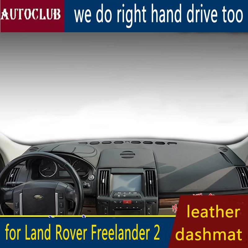 For Land Rover Freelander LR2 2006-2014 Leather Dashmat Dashboard Cover Car Pad Dash Mat SunShade Carpet Cover 2007 2008 2009