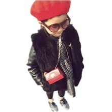 6e5b86e4867f Furry Luxury Girls And Boys Faux Mink Fur Coat Autumn Winter 2018 Cute  Children Parka Thicken Warm Cotton Soft Fur Jacket N65