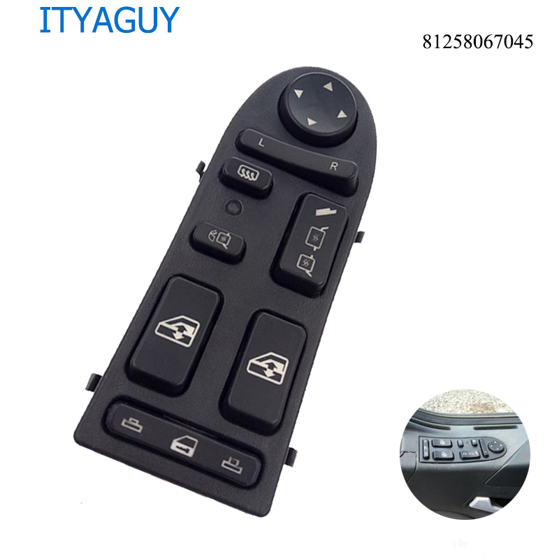 81258067045 SW0017 Auto Power Window Lifter Control Switch apply For TGA TGX 81258067045 81258067098 LHD