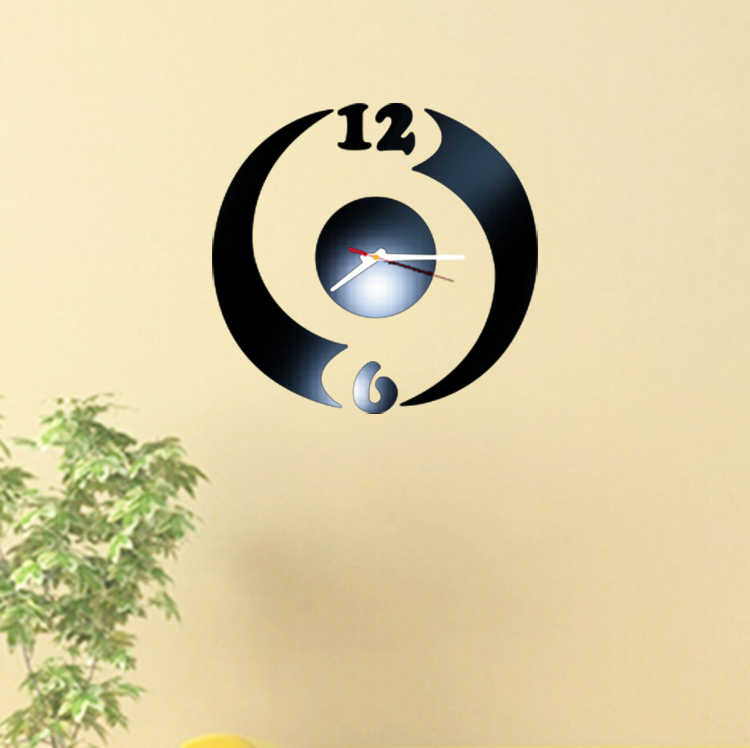 2017 جديد الاكريليك مرآة ملصقا 3d ملصقات الحائط ديكور المنزل ملصق diy بابيل دي parede infantil الحصان أوروبا جدار المطبخ ساعة