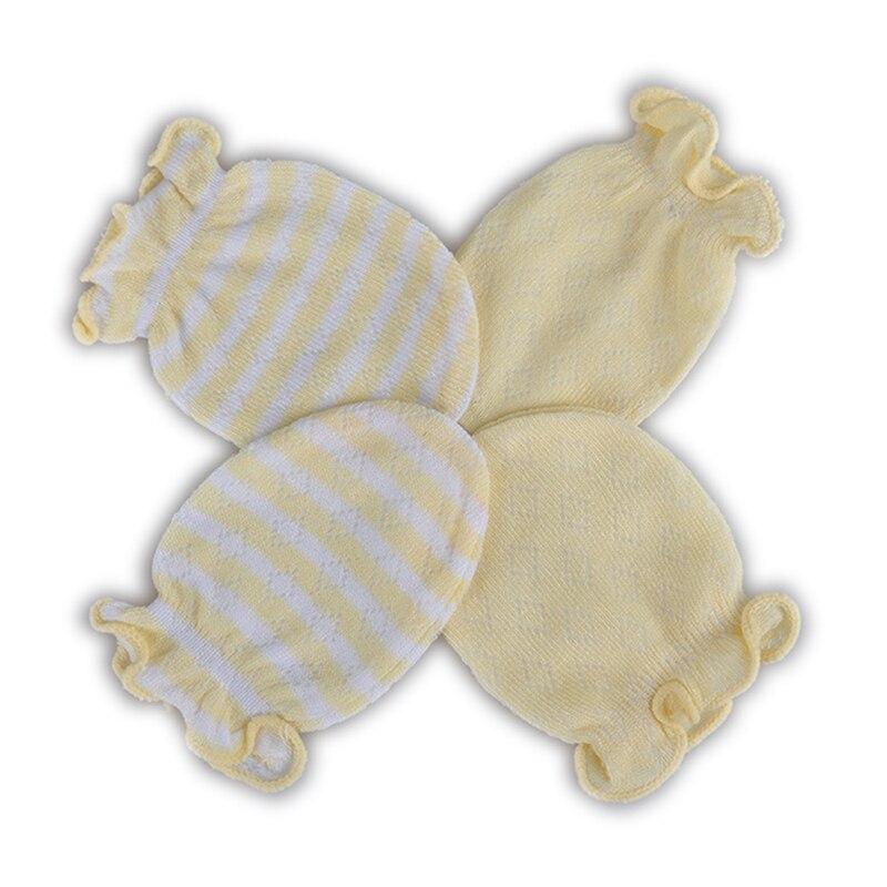 2 Pares guantes manoplas para bebés recién nacidos Algodón Guantes ...