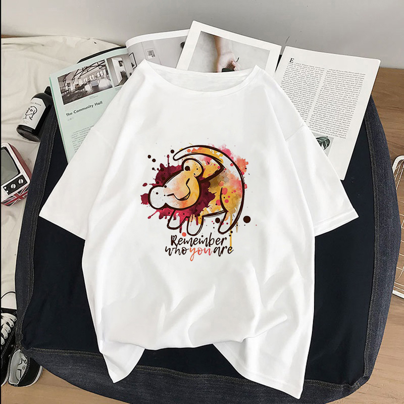 HAKUNA MATATA Remember who you are <font><b>Lion</b></font> <font><b>King</b></font> Simba Best Friend graphic tees <font><b>women</b></font> harajuku kawaii streetwear plus size <font><b>t</b></font> <font><b>shirt</b></font> image