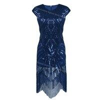 1920s Flapper Dress Roaring 20s Great Gatsby Costume Dress Fringed Sequin Dress Embellished Art Deco Women Summer Dress