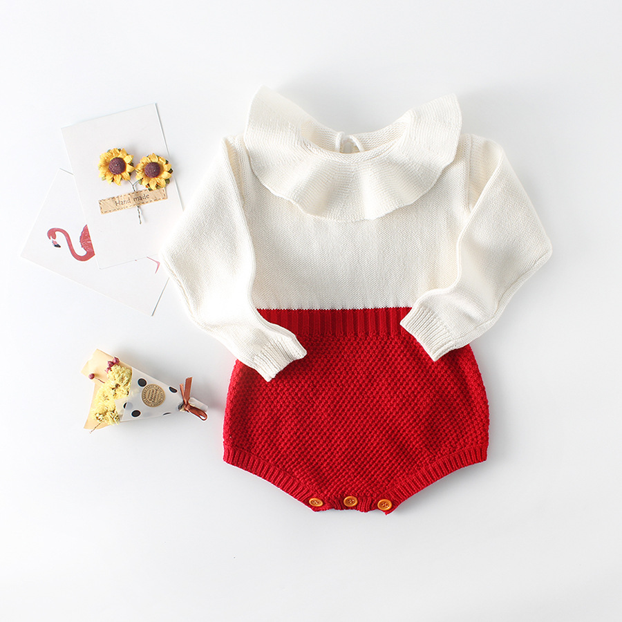 2018 winter New baby knitting   romper   baby jumpsuit woolen soft long sleeve newborn baby boys girls one-pieces cute baby clothes