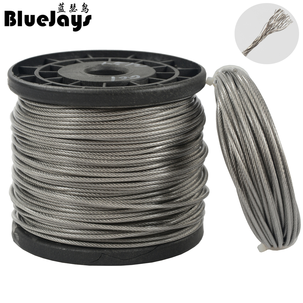 Many Sizes Avaliable 6 Clips Set 5m Steel Wire Rope galvanised 8mm Strand: 6x19 2 turnbuckles Hook-Eye