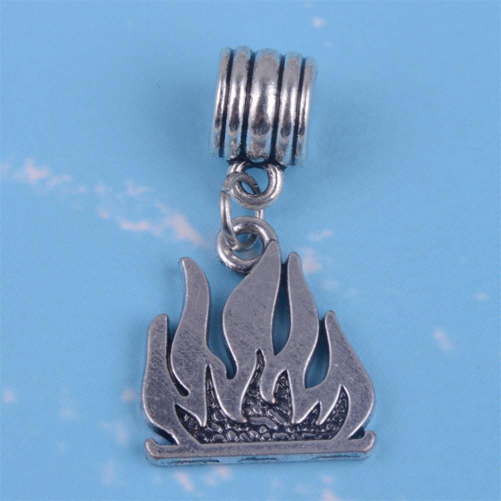 Spain My Shape Tibetan Silver Plated Camp Charms Camping Trailer Fire Comp Deer Dangle Beads Fit