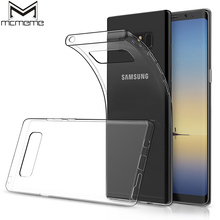 MCMEME Transparent Case For Samsung Galaxy Note 8 Case Luxury Slim Soft Silicone Clear TPU Back Cover Bag For Galaxy Note 8 Case angibabe clear soft jelly tpu slim cover case for samsung galaxy grand 2 g7106 light pink