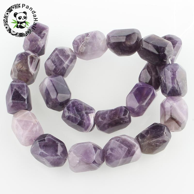 natural Sem-precious stone bead strands, faceted cuboid, 20x15x15mm, hole: 1mm; about 19pcs/strand, 15.55