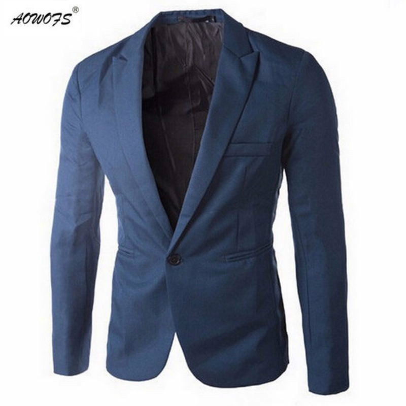 AOWOFS Clothing Men Slim Fit Suit Jacket Masculine Blazer