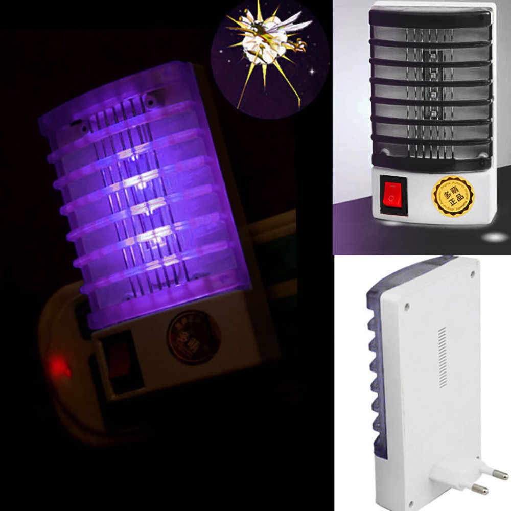 New Electronic Mosquito Killer LED Socket Electric Mosquito Fly Bug Insect Trap Killer Zapper Night Lamp Lights Lighting EU Plug