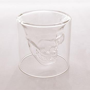Creative Glass Skull Cup  Vodka Glass Skull Wine Glass Bar KTV Christmas Holiday Supplies Imprisoned Pirate