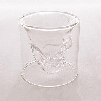 Criativo Copo De Vidro Crânio Vodka Crânio De Vidro Copo de Vinho Bar KTV Suprimentos de Férias de Natal Pirata Preso