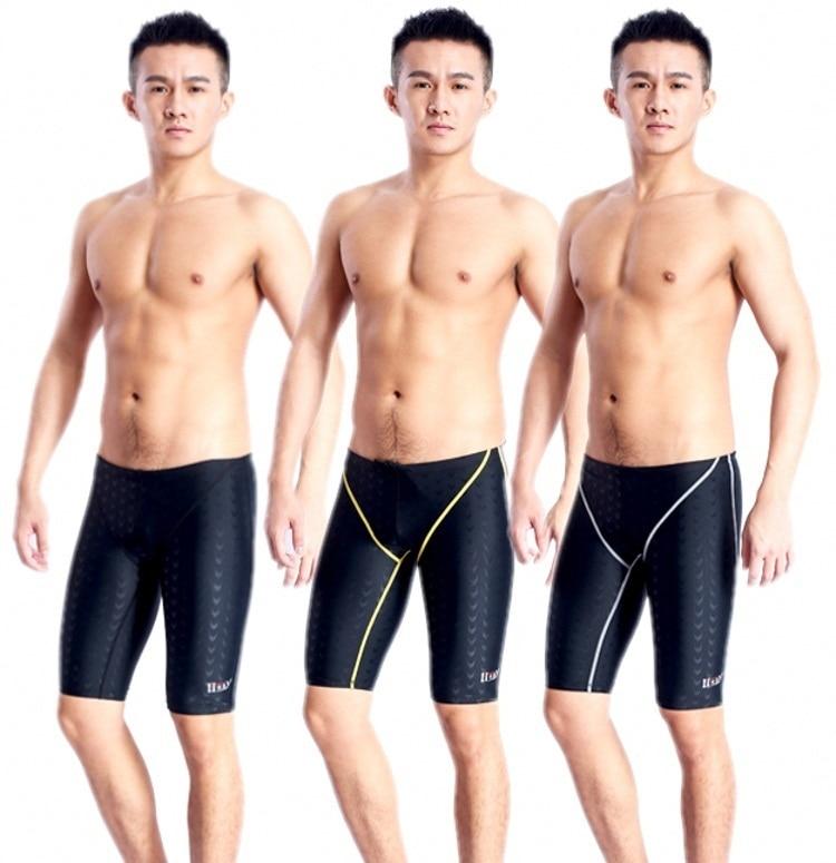 7e26e40042 HXBY hot sale mens swimming jammer/trunks swim professional jammer training  jammer Sharkskin chlorine resistant men shorts