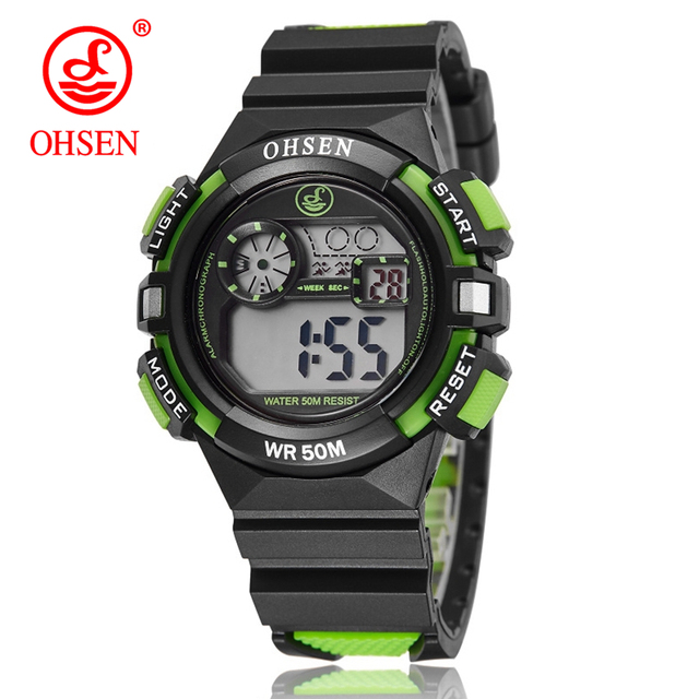 OHSEN Boys Kids Children Digital Sport Watch Alarm Date Chronograph Watches LED