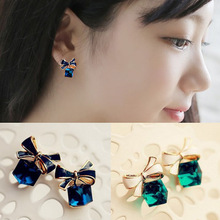 clip on earrings no pierced with bowknot ear cuff brincos outstanding woman