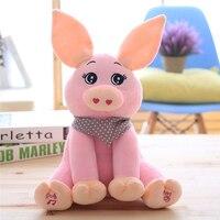 Good Quality Baby Rabbit Ears Peek A Boo Pig Plush Toy Stuffed Pink Animated Kids Singing