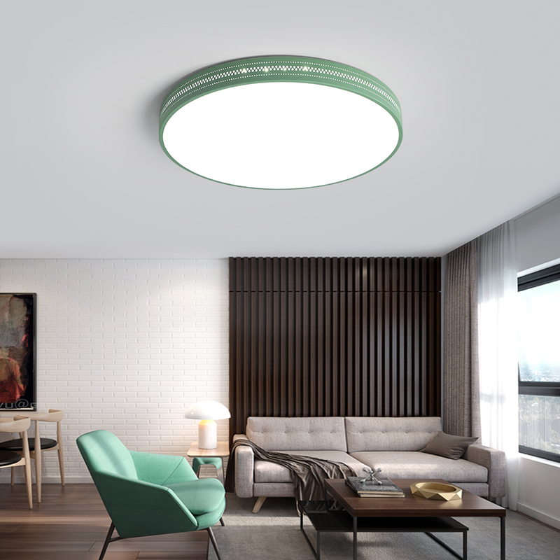 Colorful Minimalist Design: LED Modern Ceiling Lights Indoor Lamps Fixture Round