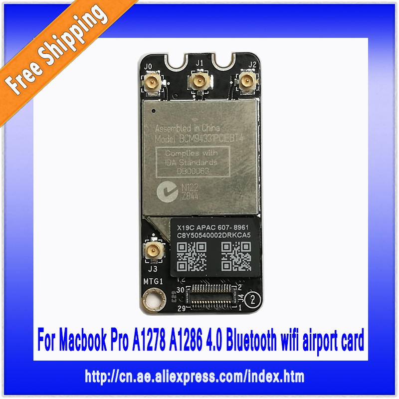 ФОТО Genuine Bluetooth Wifi Airport Card BCM94331PCIEBT4CAX For Macbook Pro A1278 A1286 2011 2012