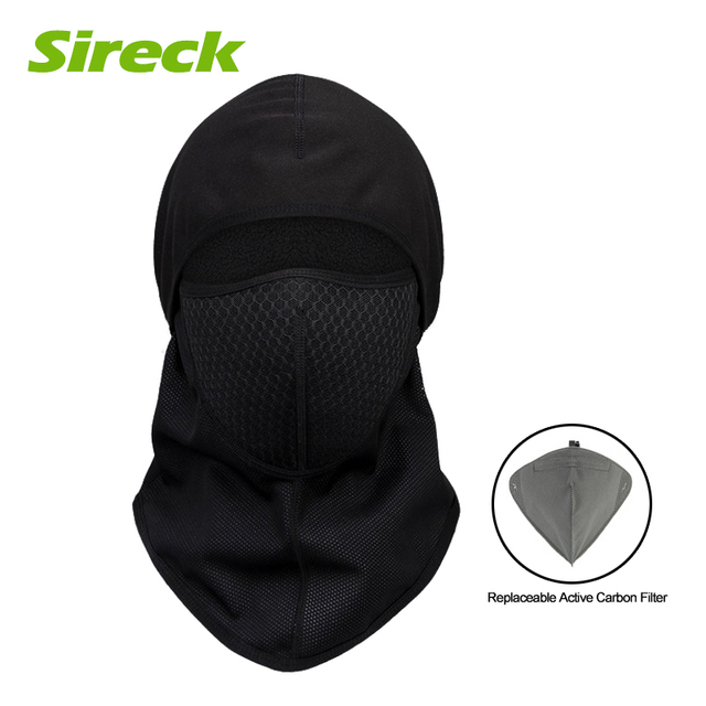 0489223e9eaee4 Sireck Winter Cycling Cap Bicycle Fleece Thermal Windproof Balaclava  Motorcycle Ski Full Face Mask Neck Warmer