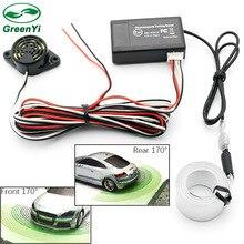 Автомобильный Электромагнитный датчик парковки, без отверстия для сверления, автомобильный радар заднего хода с динамиком