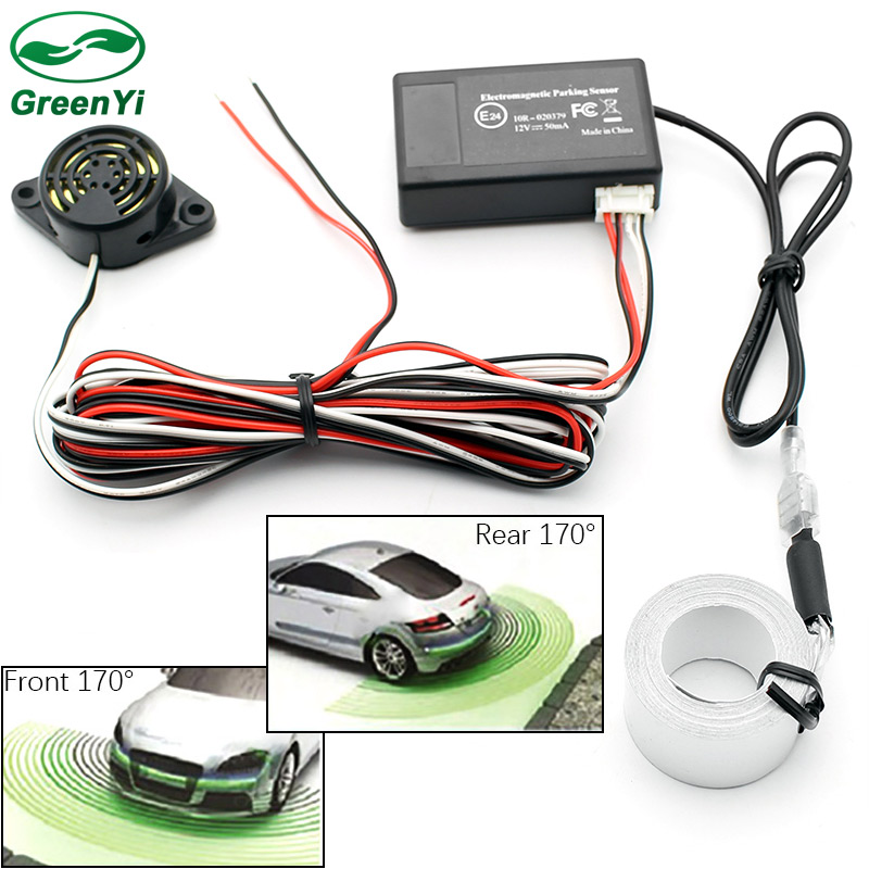 New High Performance Technology, DS18 DS18 PRKB4 Car Reverse Backup Radar with 4 Parking Sensors with Buzzer