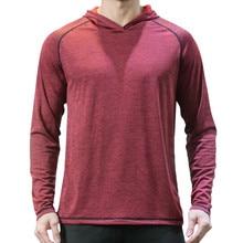 Feitong 2019 camiseta de los hombres de la marca deportivo elástico de manga  larga con capucha 3dc36e078a3a9