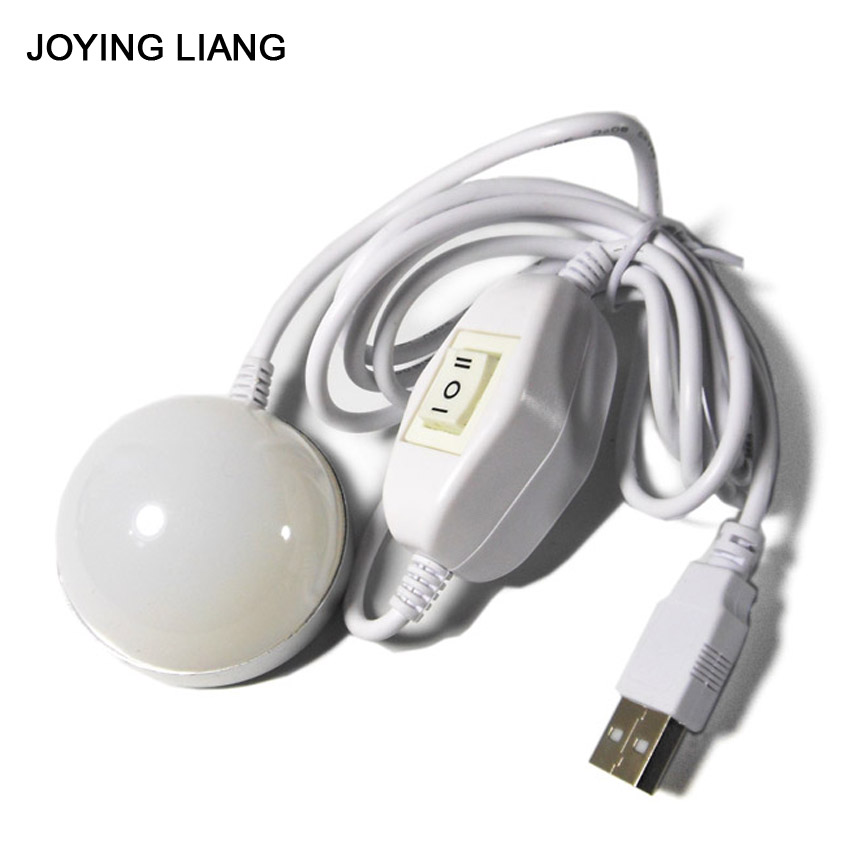 5W usb Light Dormitory Absorb Dome Light With Magnet Emergency Led Lights Mobile Power Supply USB Night Study Lamp