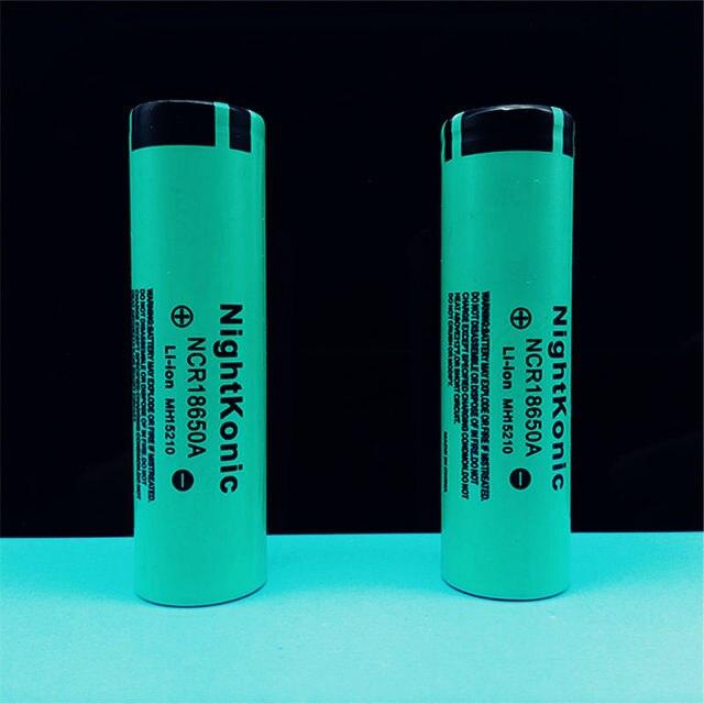 Batería recargable Original NIGHTKONIC 2 unids/lote 3,7 V 2000 mAh Li-ion 18650 para la batería del Banco de energía linterna del cigarrillo electrónico battey verde