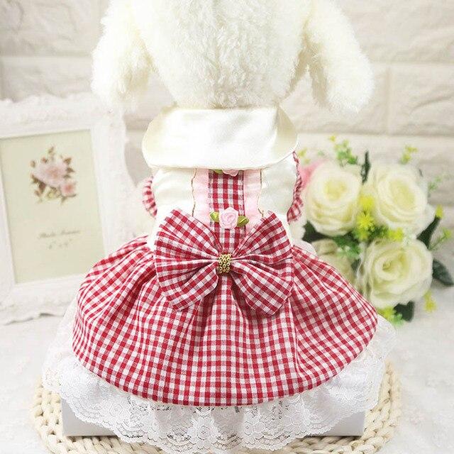 Robe dété en dentelle respirante pour chiens   Vêtements pour chiots, jupe de mariage, jupe à paillettes en maille pour chiot, robes de chat pour petit chien, Teddy