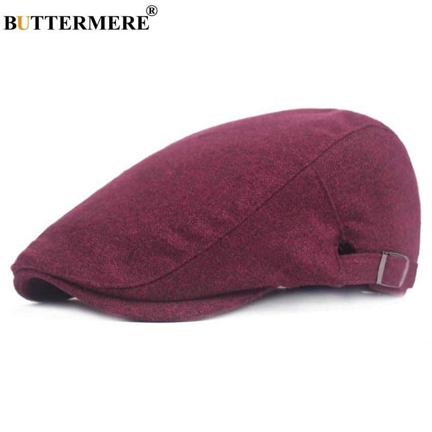 BUTTERMERE Caps Hats Berets Spring Ivy-Cap Adjustable Vintage Autumn Women Cotton Casual