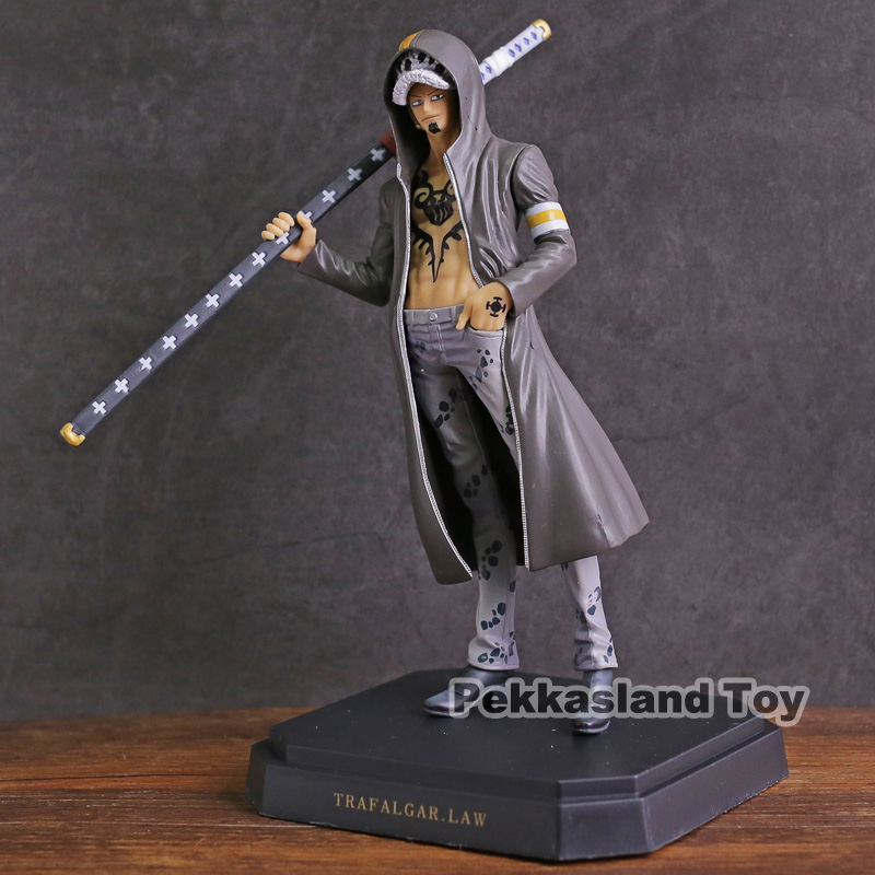 Anime <font><b>One</b></font> <font><b>Piece</b></font> <font><b>Ichiban</b></font> <font><b>kuji</b></font> Prize Dressrosa Lucy Luffy / Trafalgar Law PVC Figure Collectible Model Toy image