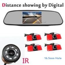 Автомобилей Видео Парковочный Сенсор Обратный Резервный Радиолокатор Помощь Монитор Цифровой повышающий Сигнализации Видео радар с Инфракрасный автомобильная стоянка cam