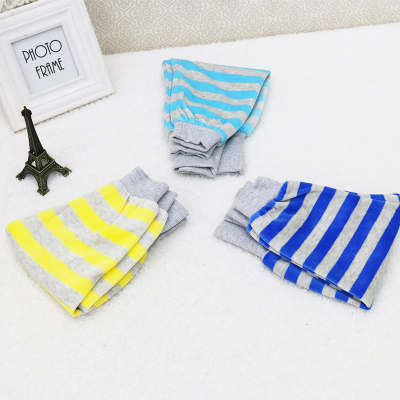 2018 Little Q Baby Velour Fashion Pants Boys Autumn Long Sports Striped 3 pcs/lot High Waist Trousers r baby little boys pack of 2 velour sleepsuits with feet