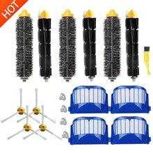 Irobot roomba 600 series (585,595,610,620,630,650,660,680) robôs de limpeza a vácuo aero vac filtro cerdas batedor flexível