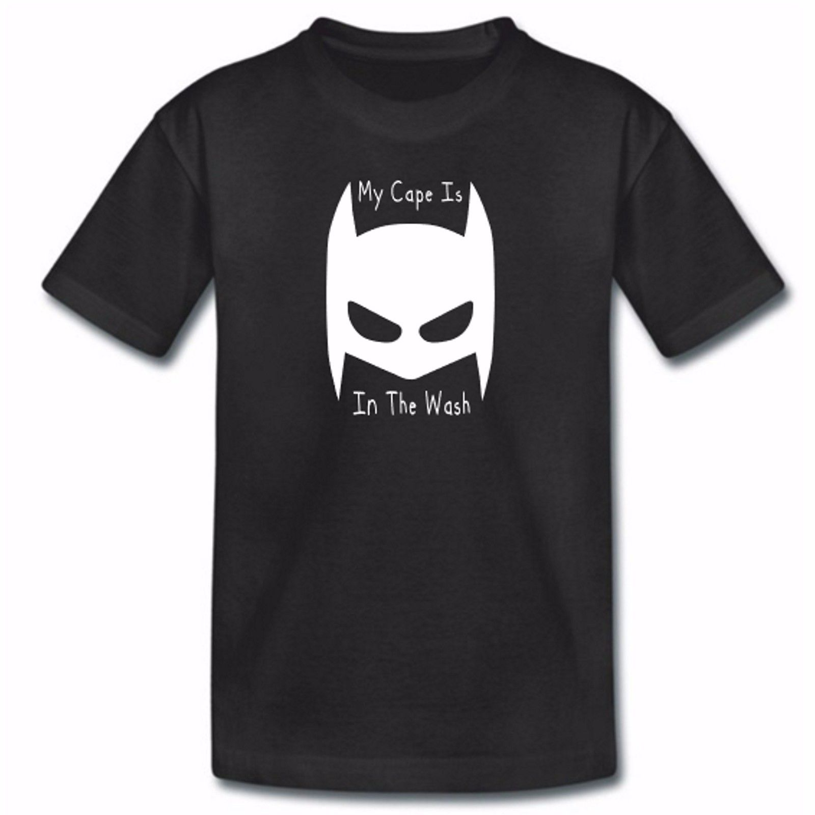 Kids My Cape Is In The Wash Batman Black TShirt - Ideal Gift - Childrens Hero