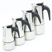 Нержавеющаясталь Moka Кофе горшок мокко эспрессо латте плите фильтр Кофе горшки 100 мл 200 мл 300 мл 400 мл Percolator инструменты