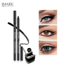 Rare 1pcs Black Waterproof Eyeliner Pen Pencil Makeup Beauty Cosmetic Tool+1pcs Pencil sharpener beauty cosmetic makeup eyeliner cream grease black 3g