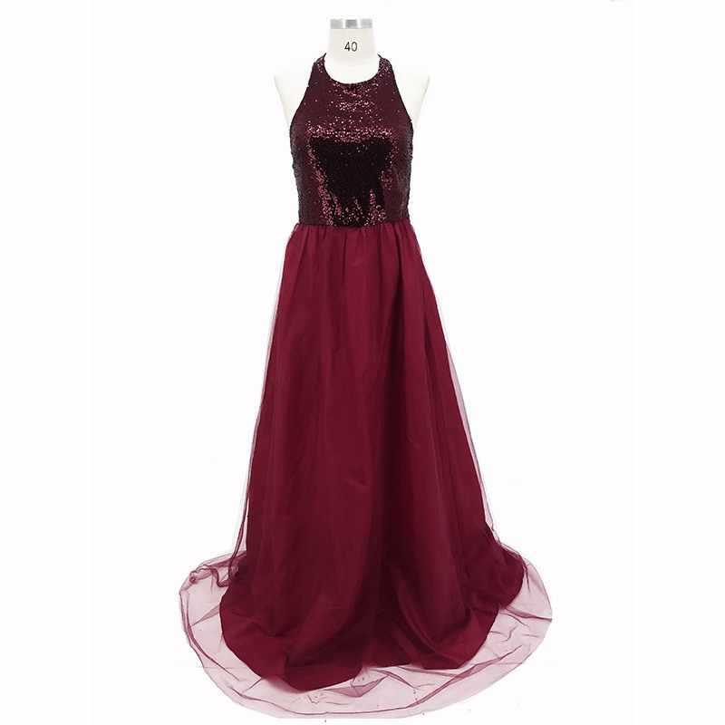 1590cb9c2ebce Women Sexy Maxi Dress Solid Shinny Crystal Backless Halter Mop Dress Long  Dress For Women Evening Party