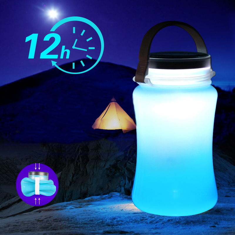 ФОТО Multi functional solar camping tent lamp rechargeable super light waterproof outdoor lighting LED camping lamp
