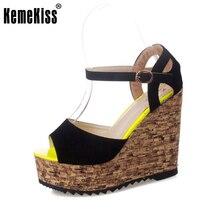women sandals elegant fashion open toe wedges sandals platform velvet platform wedges shoe high heels sandals size 35-39 WC0109