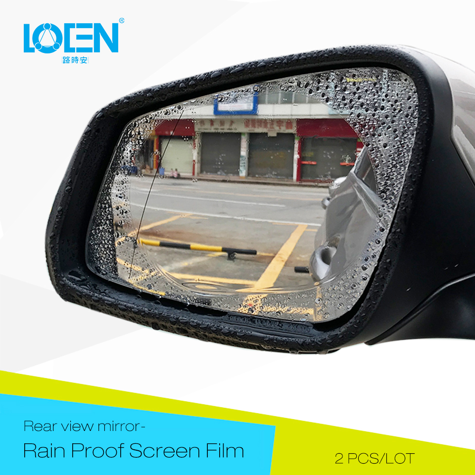 LOEN 2PCS/LOT Rainproof Car Rearview Mirror Film Sticker Anti-fog Protective Film Rain Shield Replacement For Car Window Mirror
