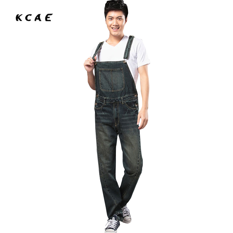 Free shipping 2016 new denim overalls font b men b font trousers suspenders plus size denim