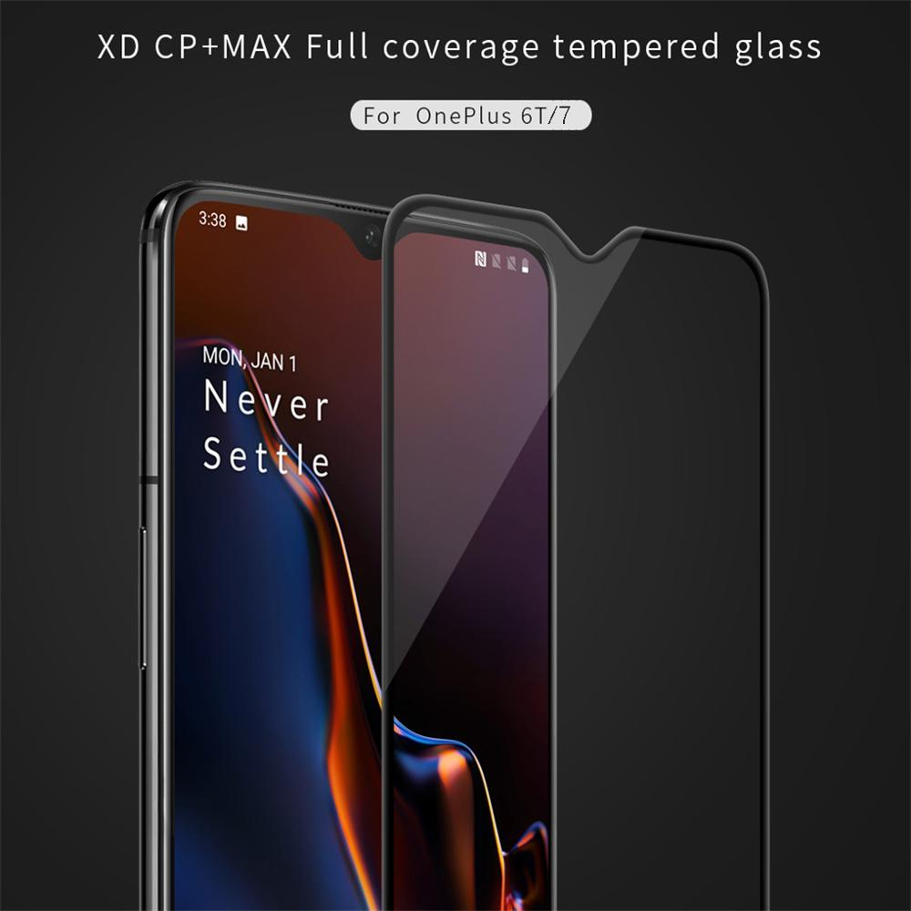 Image 2 - for Oneplus 7T Tempered Glass for Oneplus 6T / 7 Screen Protector Nillkin XD CP+MAX Anti Glare Protective film For One plus 7 7T-in Phone Screen Protectors from Cellphones & Telecommunications on