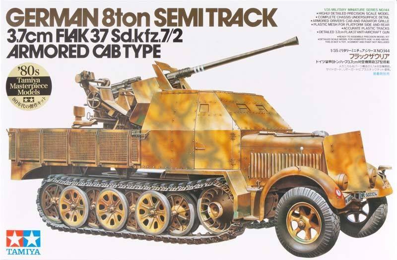 tamiya 1 35 35144 german 8ton semi track 3 7 cm flak 37 sd. Black Bedroom Furniture Sets. Home Design Ideas