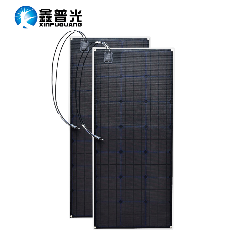 2 ETFE flexible solar panel 20.5v 100w Black Class-A solar monocrystalline solar cell 200W 12V/24v dc waterproof panels 100watt