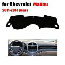 Приборной панели автомобиля охватывает мат для Chevrolet Malibu 2011-2014 левой рукой дисков dashmat автомобиль тире площадку инструмент Аксессуары платформы
